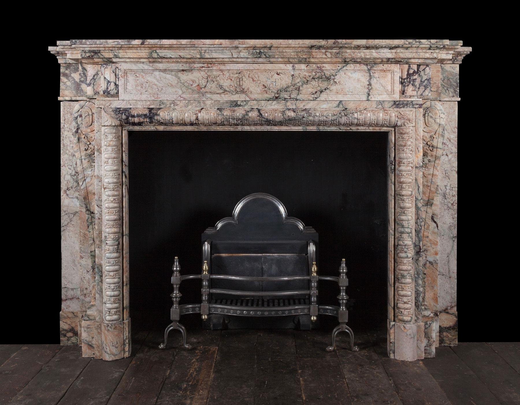 Breccia Fireplace – 19263
