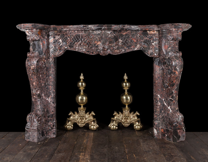 Rococo marble fireplace