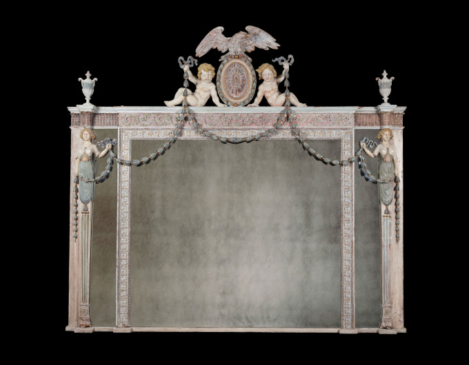 Antique overmantel