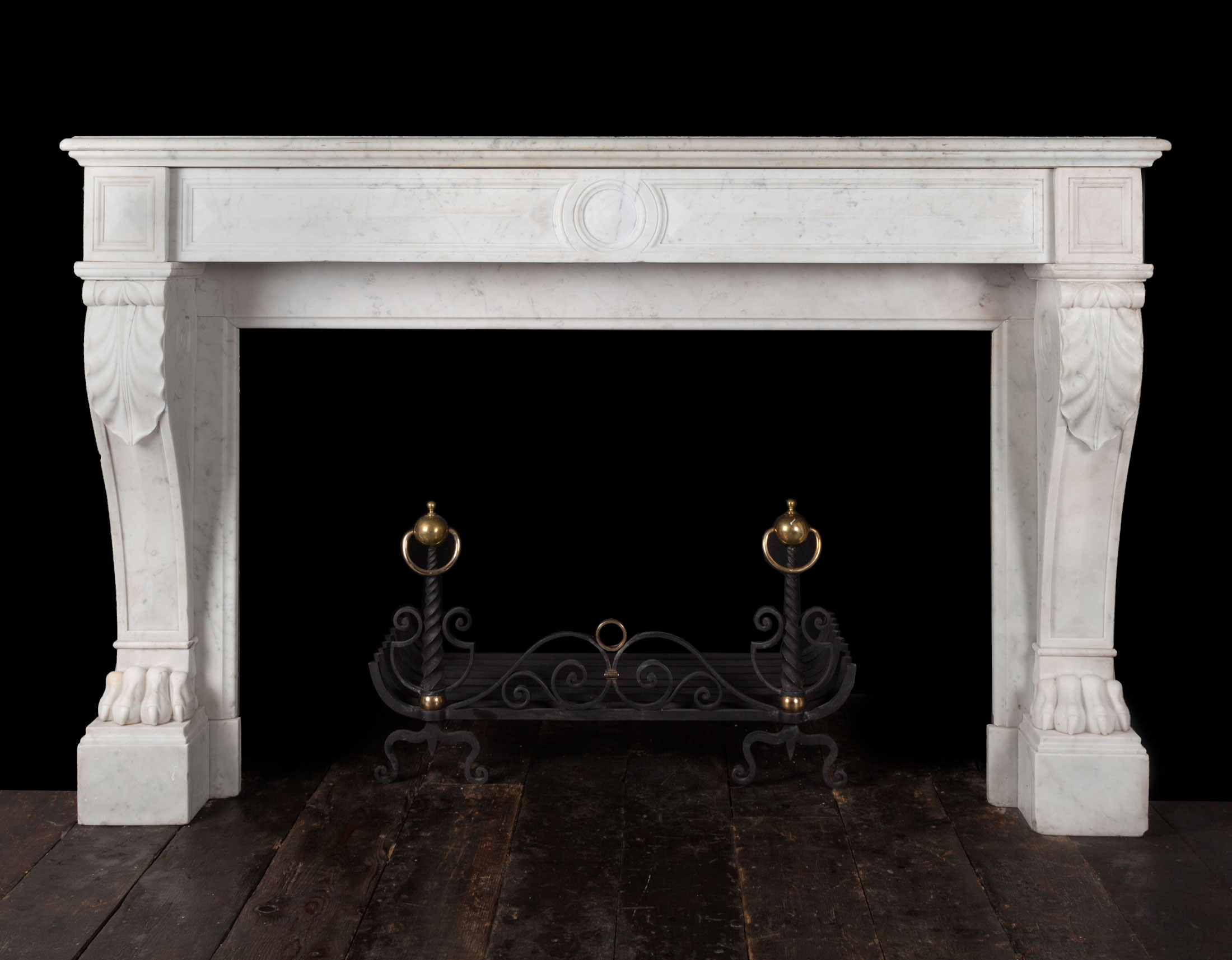 Antique Carrara Marble Fireplace – 19271