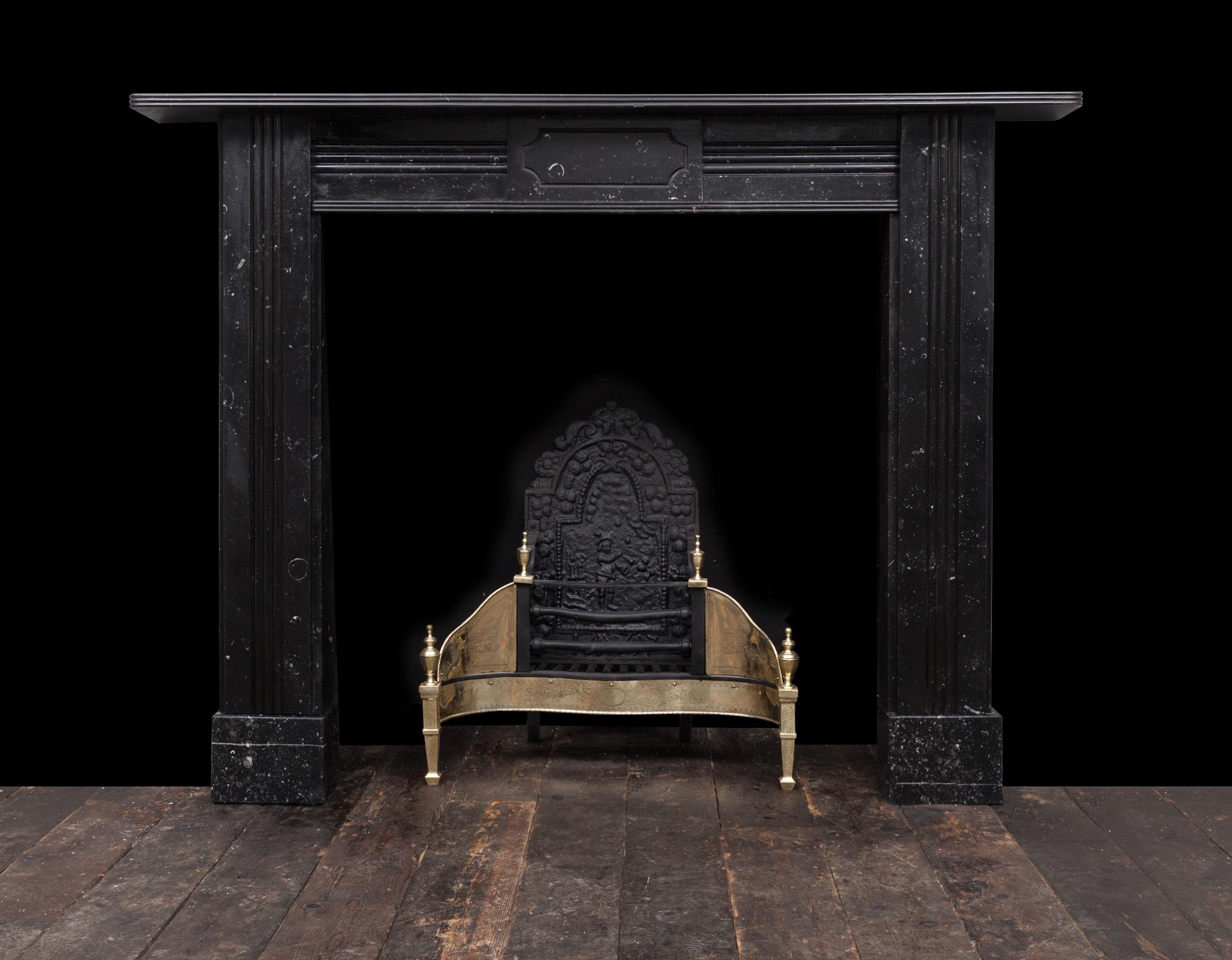Antique Black Kilkenny Marble Fireplace – 19274