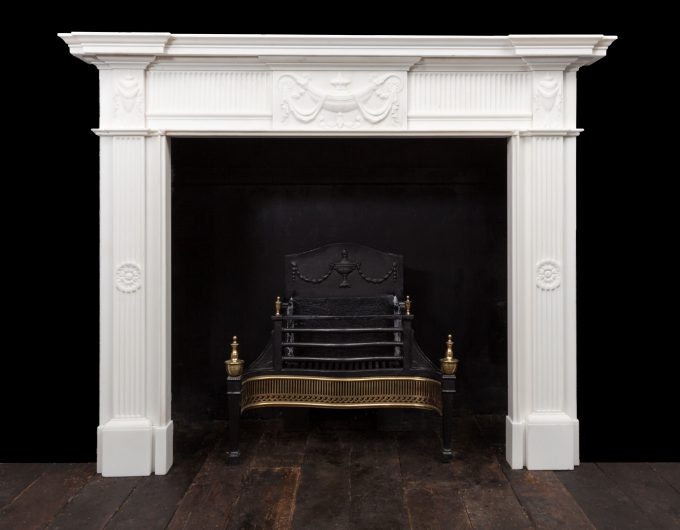 Irish Georgian style fireplace