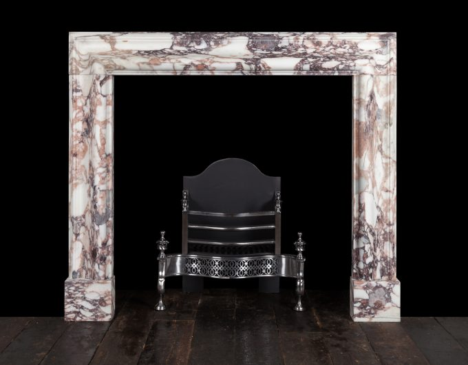 Breccia medici bolection fireplace
