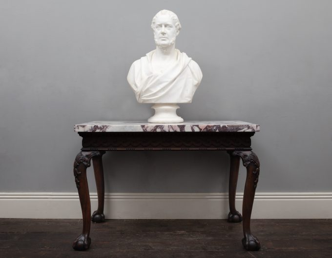 Antique marble bust