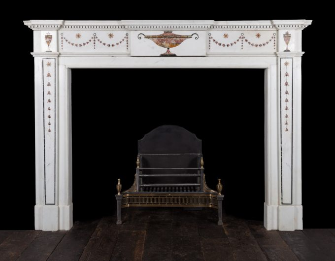 Inlaid Georgian fireplace