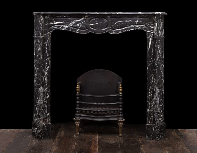 French black marble fireplace