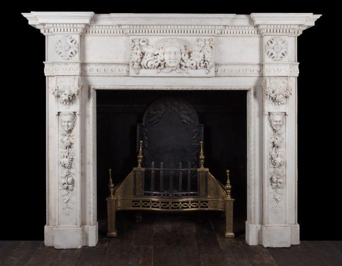 George II style fireplace