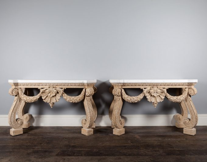 Pair console tables