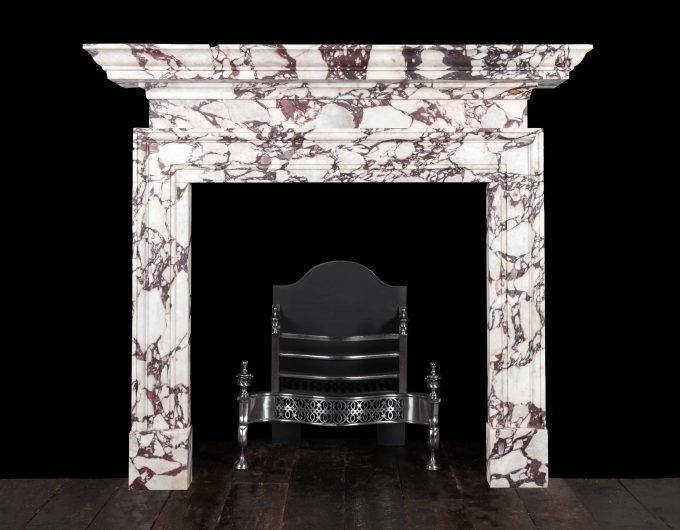 Breccia violetta marble fireplace