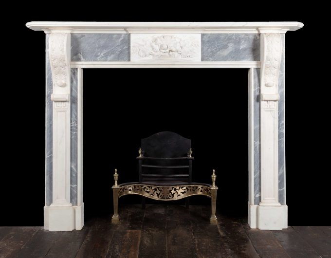 Pair antique marble fireplaces