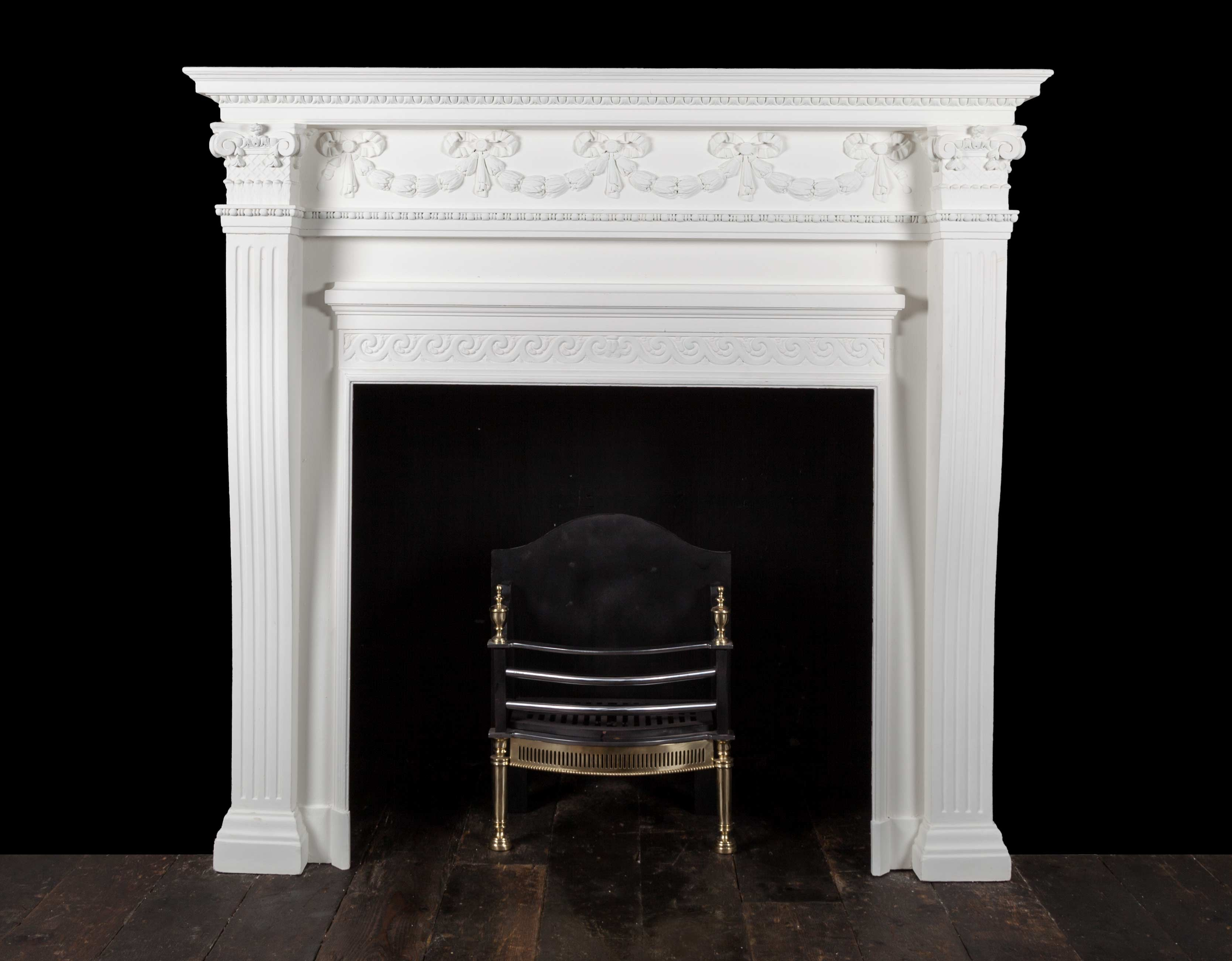 Painted Fireplace – W125