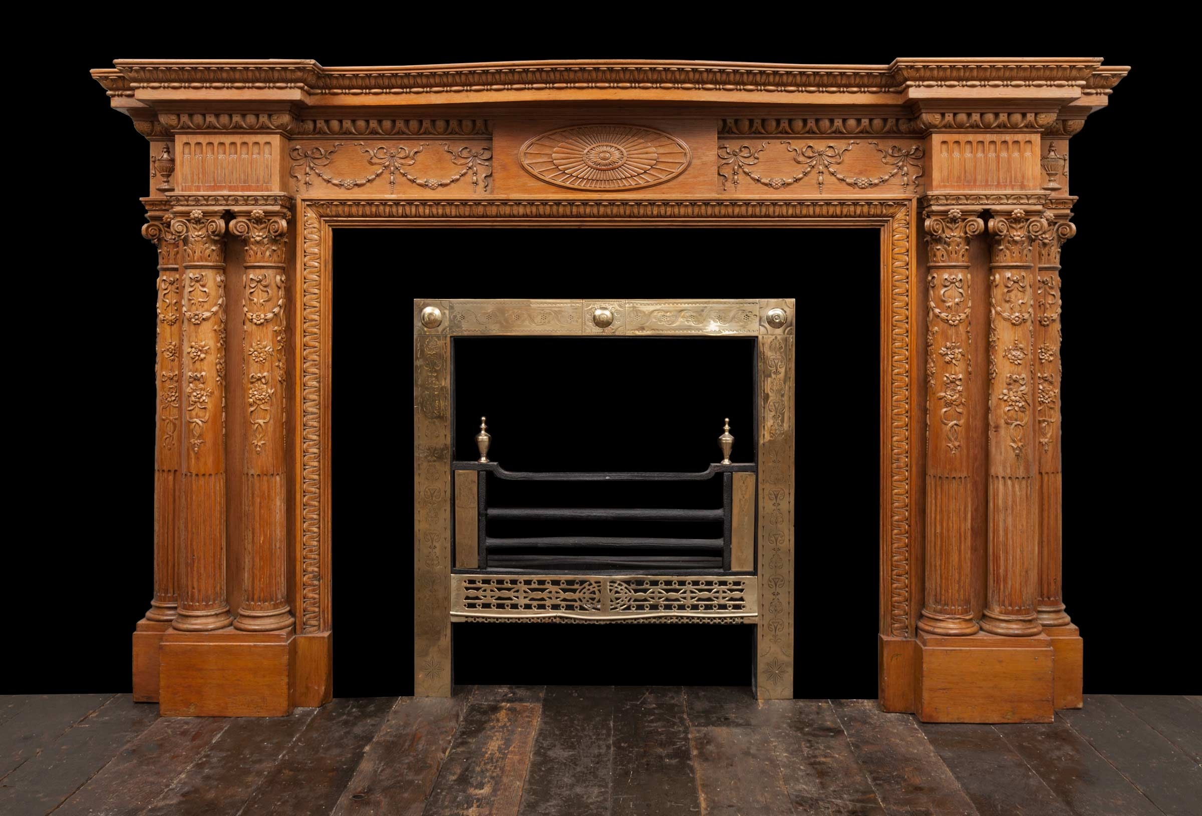 Wooded Fireplace – W127